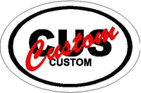 CUSTOM Country Oval Decal / Sticker