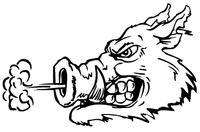 Razorbacks Mascots Decal / Sticker 4