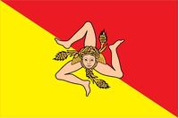 Sicilian Flag Decal / Sticker 01