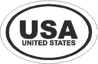 USA Country Oval Decal / Sticker