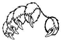 Tigers Paw Mascot Decal / Sticker 1