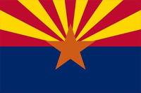 Arizona Flag Decal / Sticker 01