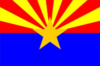 Arizona Flag Decal / Sticker 02