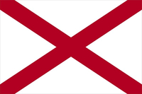 Alabama Flag Decal / Sticker 01