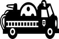 Fire Truck Decal / Sticker 01