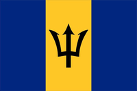 Barbados Flag Decal / Sticker 01