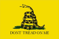 Gadsden Flag Don't Tread on Me Decal / Sticker 01