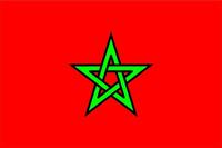 Morocco Flag Decal / Sticker 02