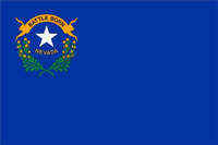 Nevada State Flag Decal / Sticker 01
