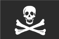 Pirate Flag Decal / Sticker 02