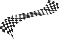 Checkered Flag Decal / Sticker 25