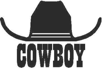 Cowboy Hat Decal / Sticker 03