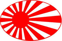 Japan Rising Sun Decal / Sticker 03