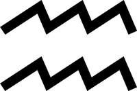 Aquarius Zodiac Symbol Decal / Sticker 01