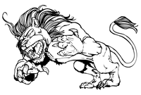 Lion Mascot Decal / Sticker