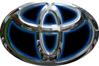 Simulated 3D Chrome Toyota Decal / Sticker