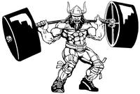 Weightlifting Vikings Mascot Decal / Sticker 4