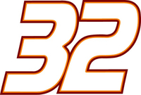 32 Race Number Decal / Sticker 3 color