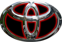 Simulated 3D Chrome Toyota Decal / Sticker 14