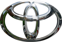 Simulated 3D Chrome Toyota Decal / Sticker 16