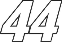 44 Race Number Switzerland Font Decal / Sticker