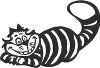 Cheshire Cat Decal / Sticker 04