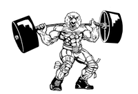 Weightlifting Eagles Mascot Decal / Sticker 7