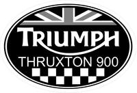 Triumph Thruxton 900 Oval with British Flag Decal / Sticker 33
