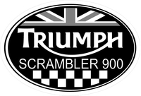 Triumph Scrambler 900 Oval with British Flag Decal / Sticker 48