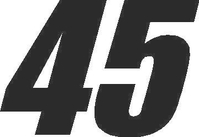 45 Race Number Impact Font Decal / Sticker