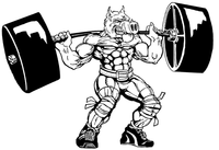 Weightlifting Razorbacks Mascots Decal / Sticker 3