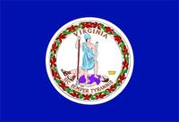 Virginia Flag Decal / Sticker 01