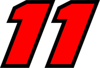 11 Race Number 2 Color Decal / Sticker e