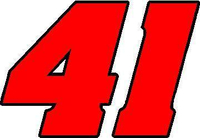 41 Race Number 2 Color Aardvark Font Decal / Sticker