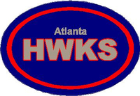 Atlanta Hawks Oval Decal / Sticker