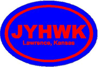 KU Jayhawks Oval Decal / Sticker