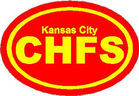 Kansas City Chiefs Oval Decal / Sticker