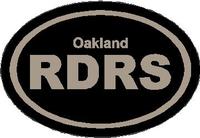 Oakland Raiders Oval Decal / Sticker