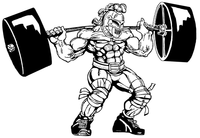 Weightlifting Knights Mascot Decal / Sticker 7