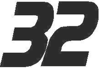 32 Race Number Decal / Sticker SOLID