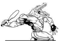 Baseball Gators Mascot Decal / Sticker 6