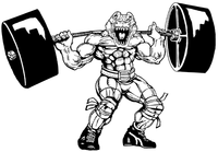 Weightlifting Gators Mascot Decal / Sticker 5