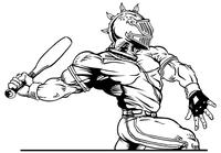 Baseball Knights Mascot Decal / Sticker 6
