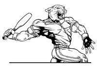Baseball Cougars / Panthers Mascot Decal / Sticker 4