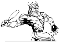 Baseball Vikings Mascot Decal / Sticker 3