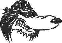 Cool Dog Decal / Sticker 1