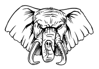 Elephants Mascot Decal / Sticker 1