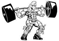 Weightlifting Gamecocks Mascot Decal / Sticker 7