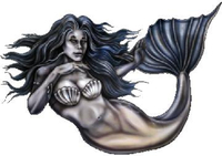 Mermaid Decal / Sticker 02