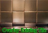 Black Carbon Fiber Tile Covers 4 Inch
